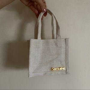 Handbags - Semaine Mini Linen Bag